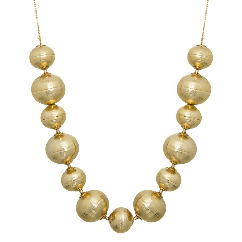 Colar Le Diamond Bolas Dourado