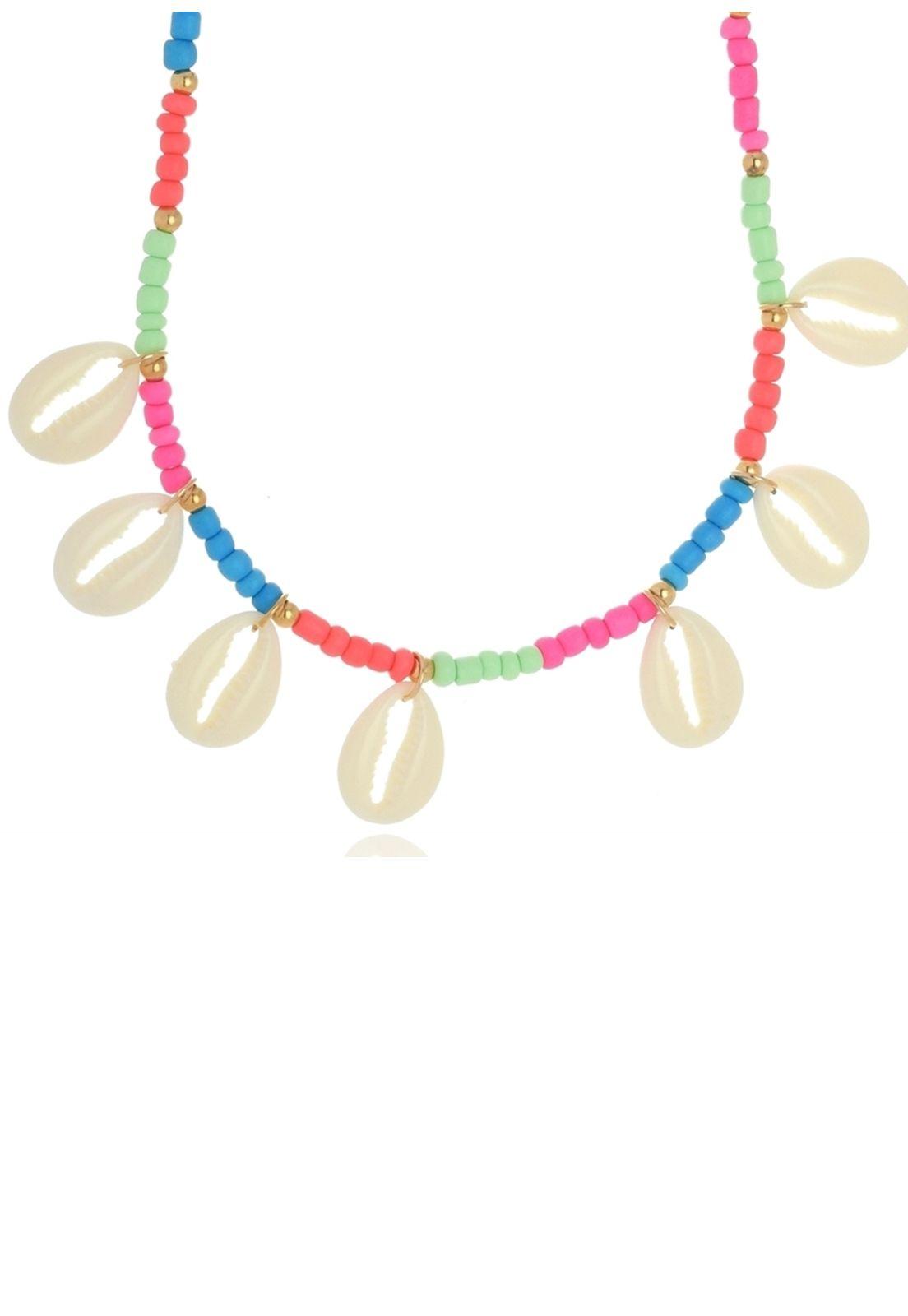 Colar Le Diamond Búzios de Resina Multicolorido