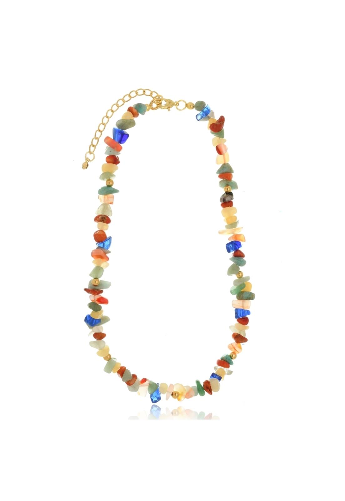 Colar Le Diamond Cascalhos Multicoloridos