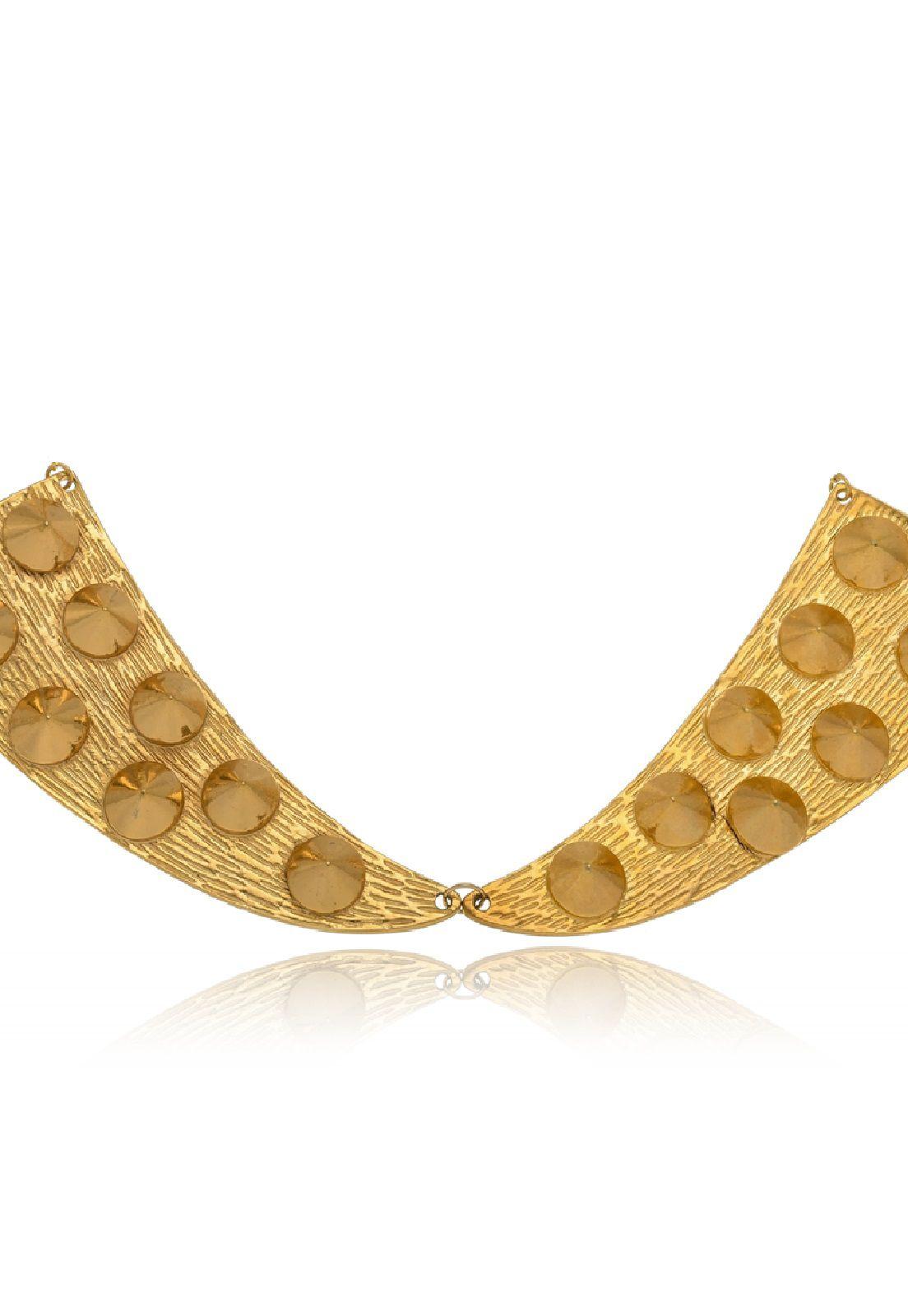 Colar Le Diamond Chapa Spikes Dourado