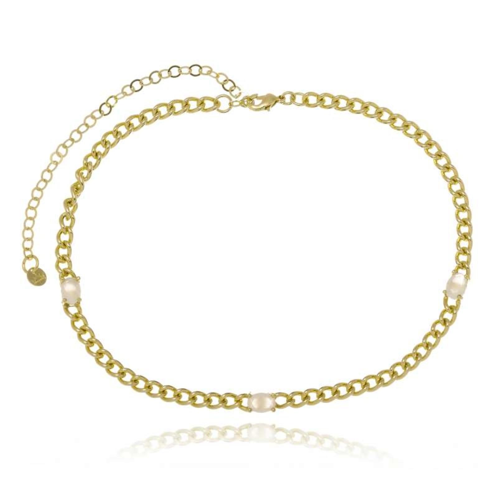 Colar Le Diamond Choker Arum Met Dourado