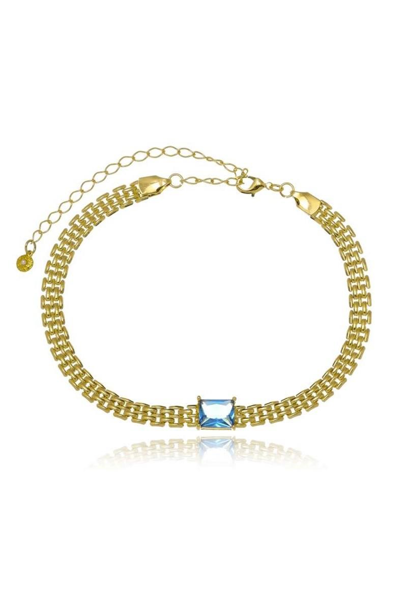 Colar Le Diamond Choker de Malha Dourado