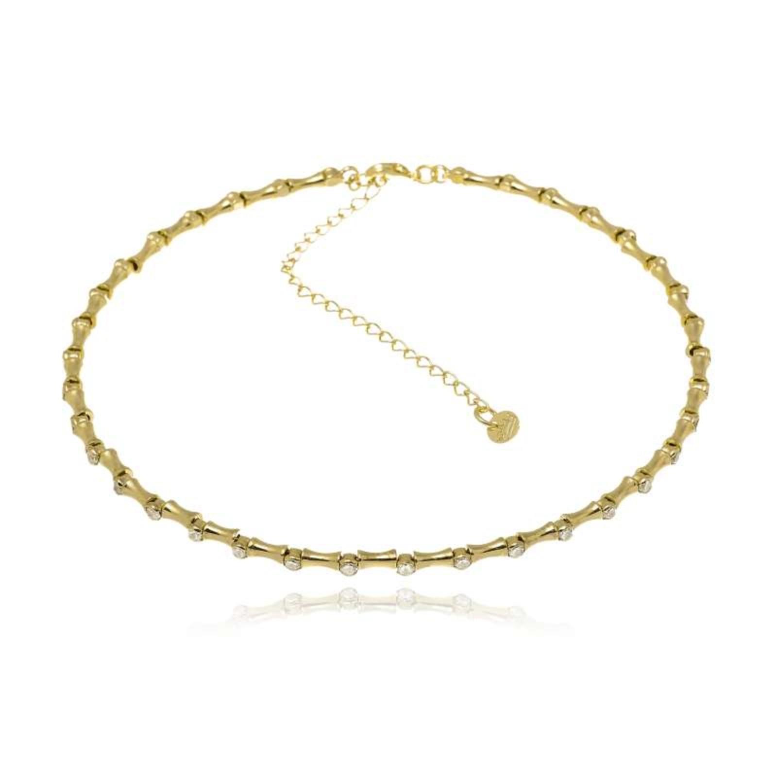 Colar Le Diamond Choker Paris Dourado