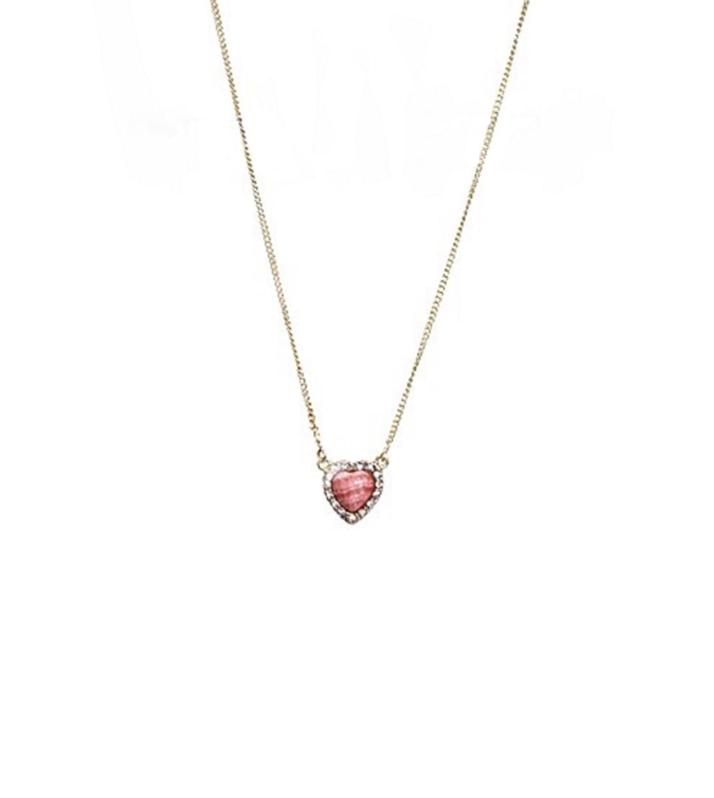 Colar Le Diamond Coração Multicolorido