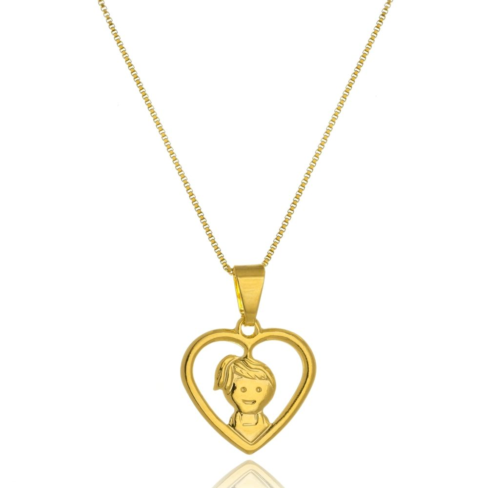 Colar Le Diamond  Coração Vazado Menina