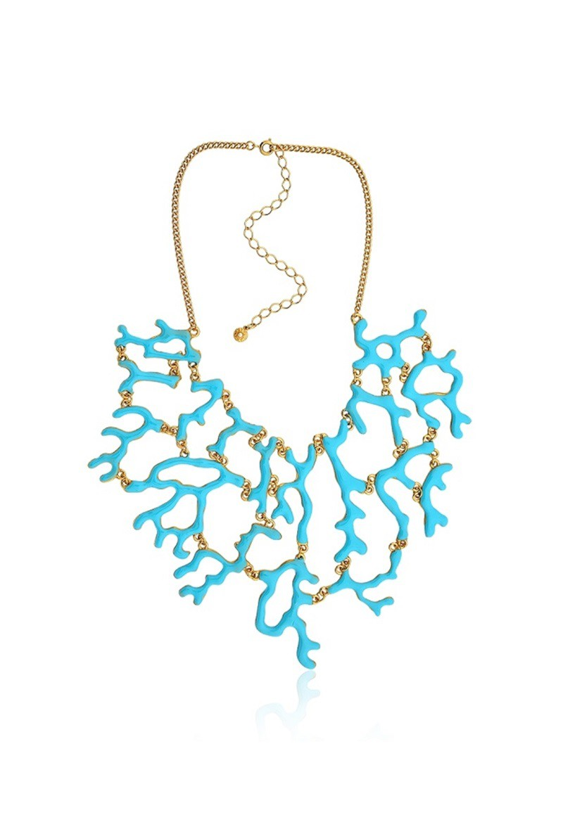 Colar Le Diamond Coral Azul