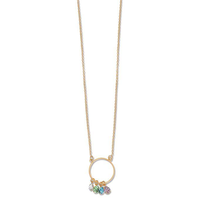 Colar Le Diamond Gabi Cristais Multicoloridos Dourado