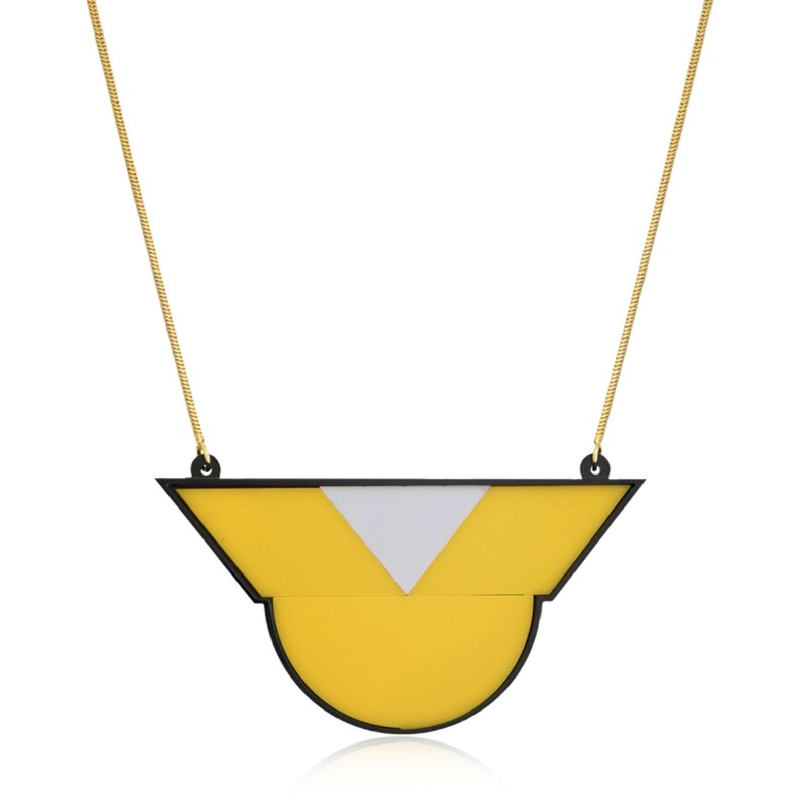 Colar Le Diamond  Geométrico Amarelo