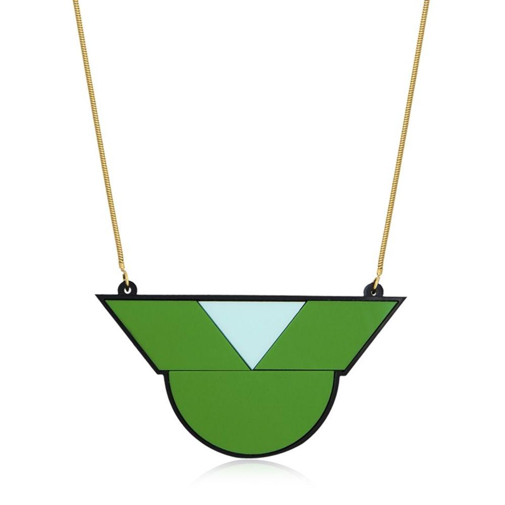 Colar Le Diamond Geométrico Verde