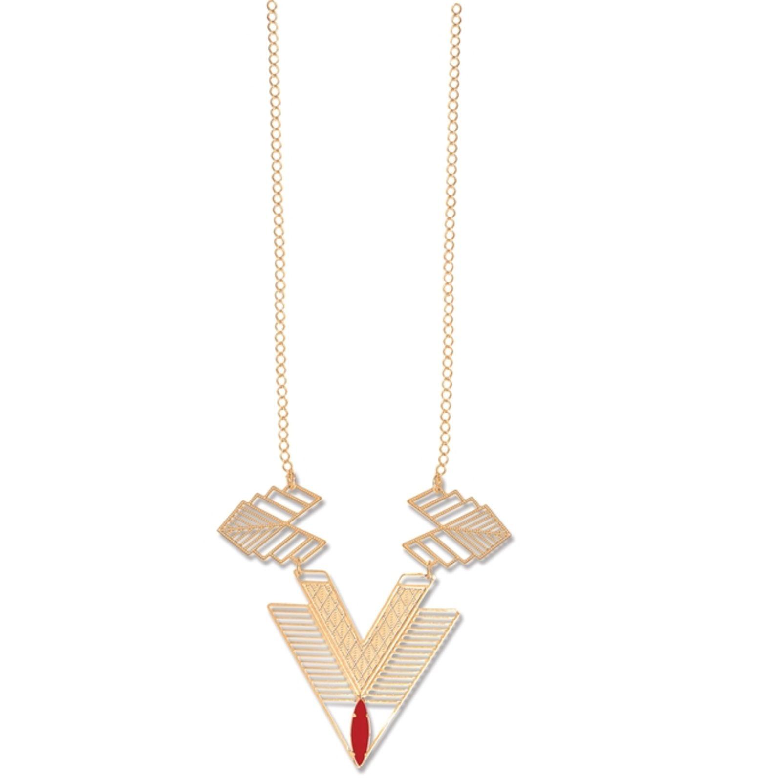 Colar Le Diamond Kate Chapa Geométrica Dourado
