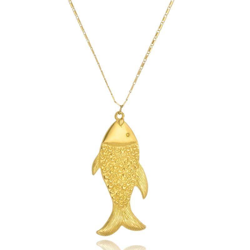 Colar Le Diamond Longo Peixe Dourado