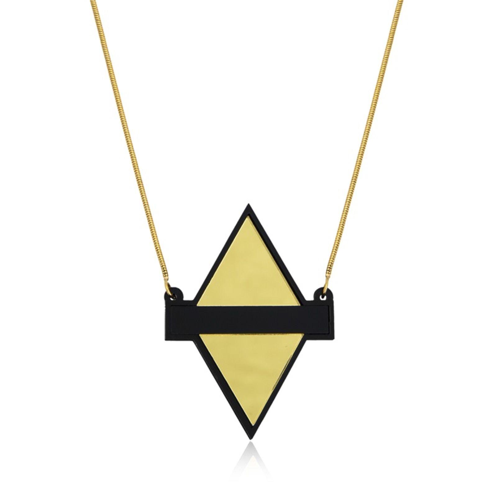 Colar Le Diamond Losango de Acrílico