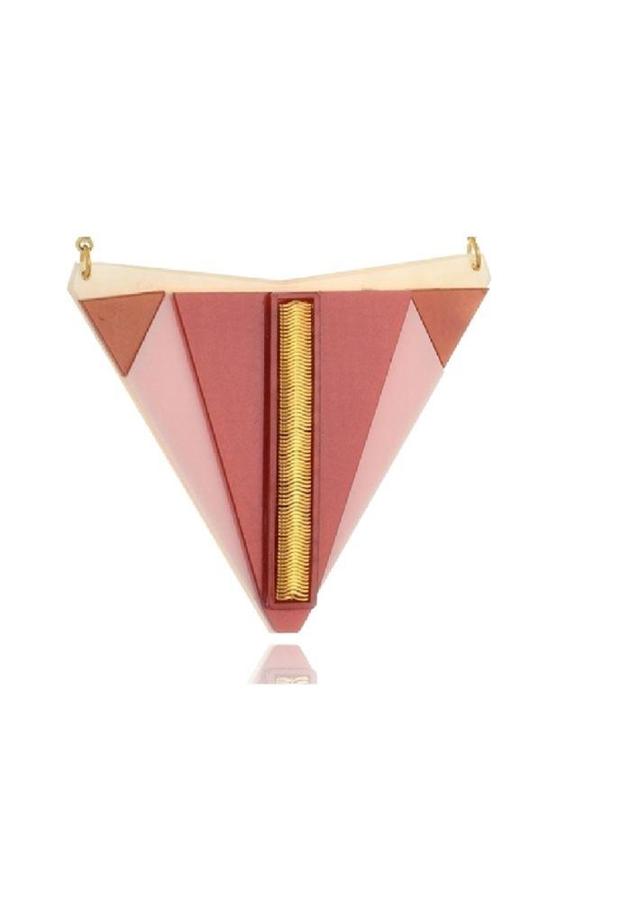 Colar Le Diamond Maia com Resinas Vermelho