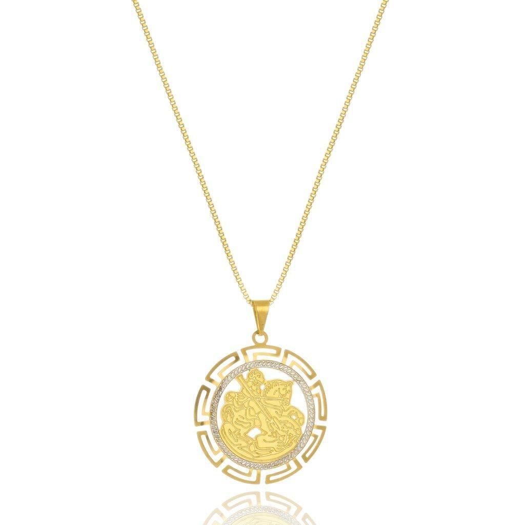 Colar Le Diamond Medalha São Jorge