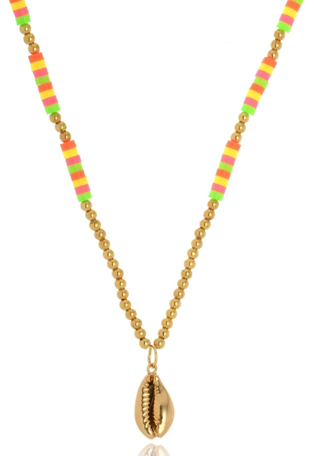 Colar Le Diamond Multicolorido com Búzio