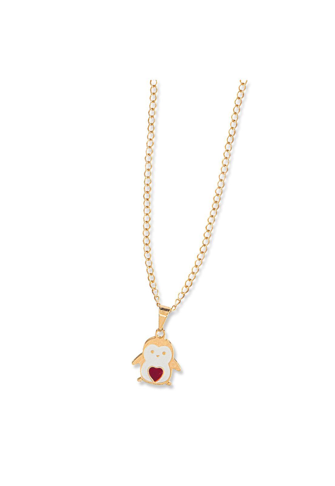 Colar Le Diamond Pinguim Dourado