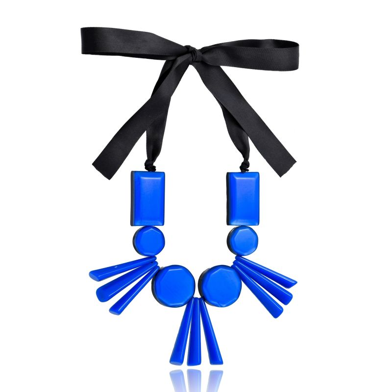 Colar Le Diamond Resinas Azul