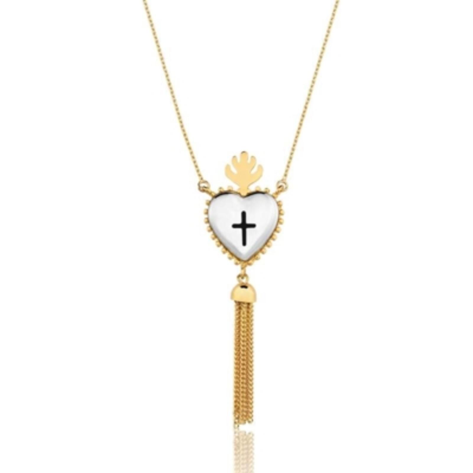 Colar Le Diamond Sagrado Coração Dourado