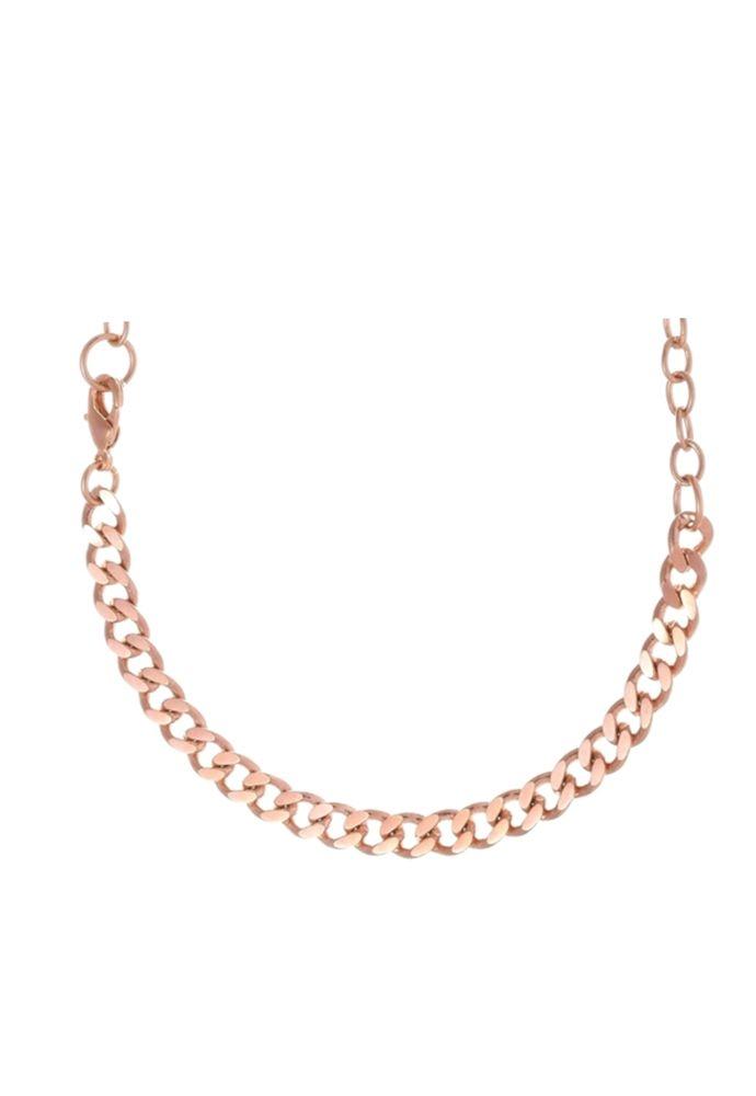Colar Le Diamond Três em um Ouro Rosê