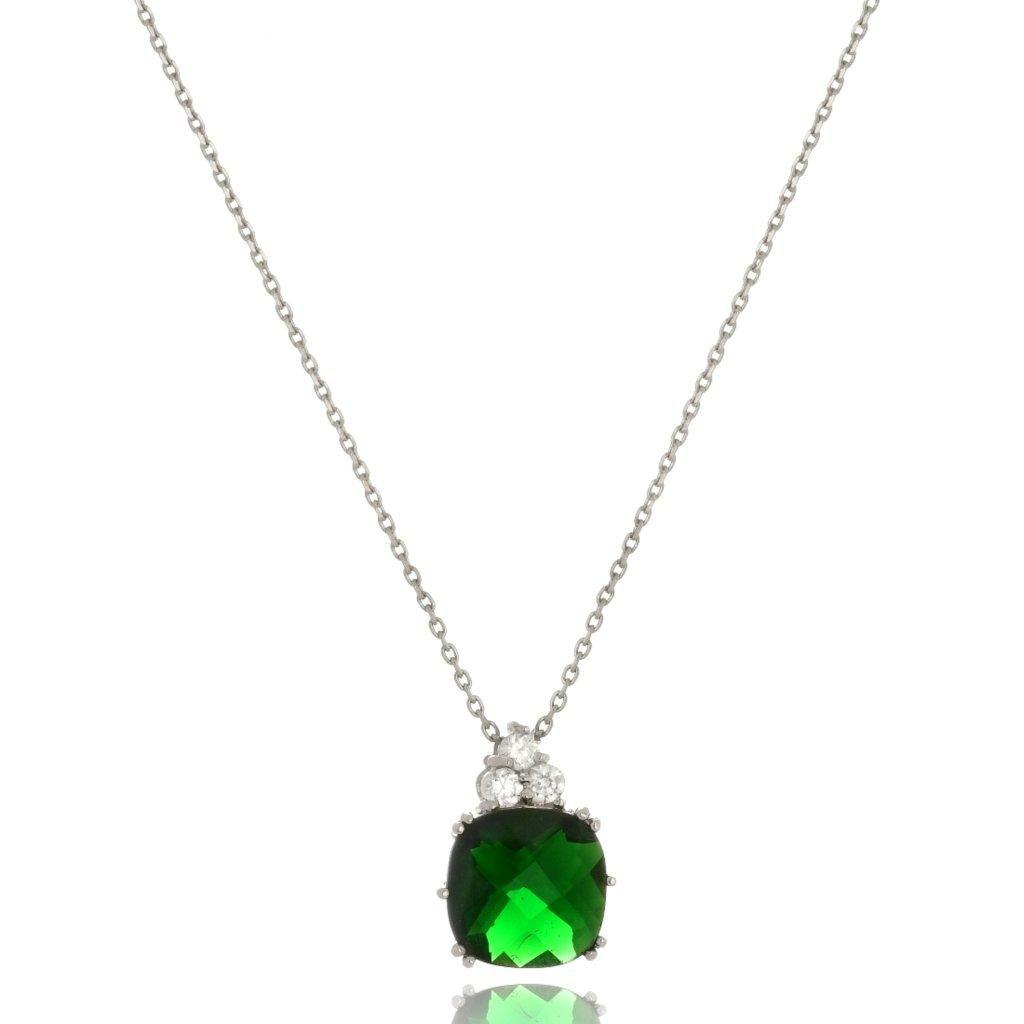 Colar Le Diamond Zircônia Verde Esmeralda