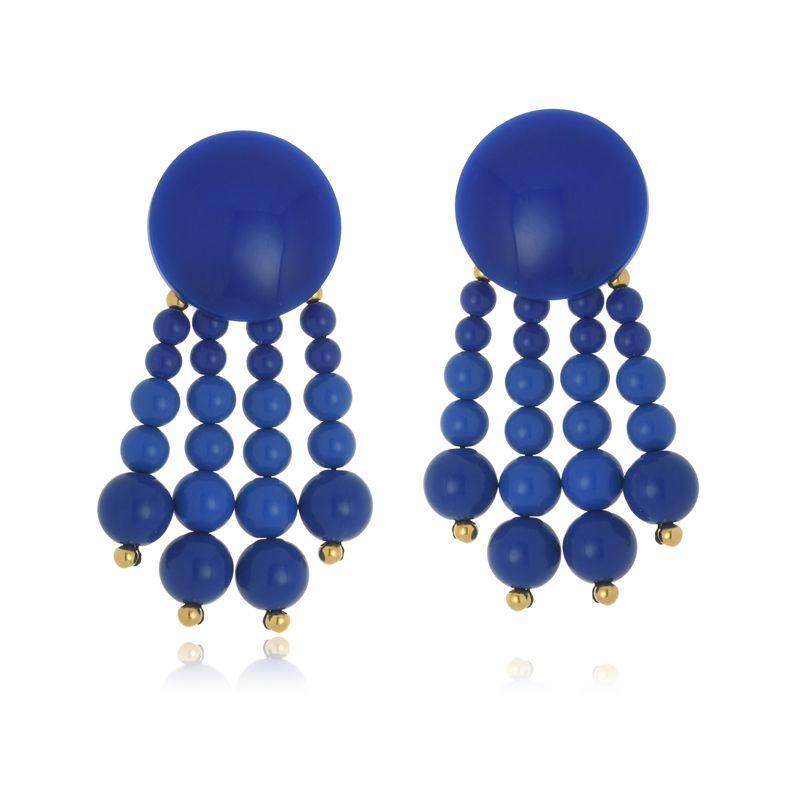 CÓPIA - Brinco Le Diamond Janina Azul Royal