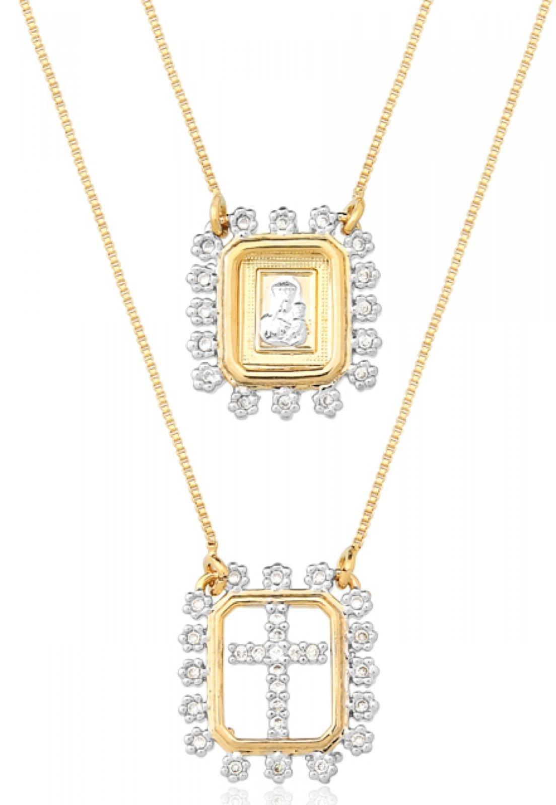 Escapulário  Le Diamond  Dourado