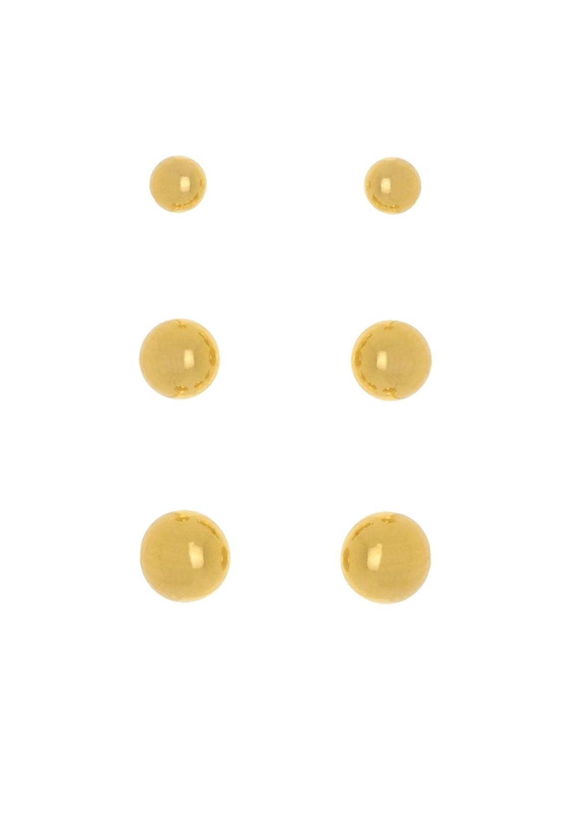 Kit Brinco Le Diamond Bolas Dourado