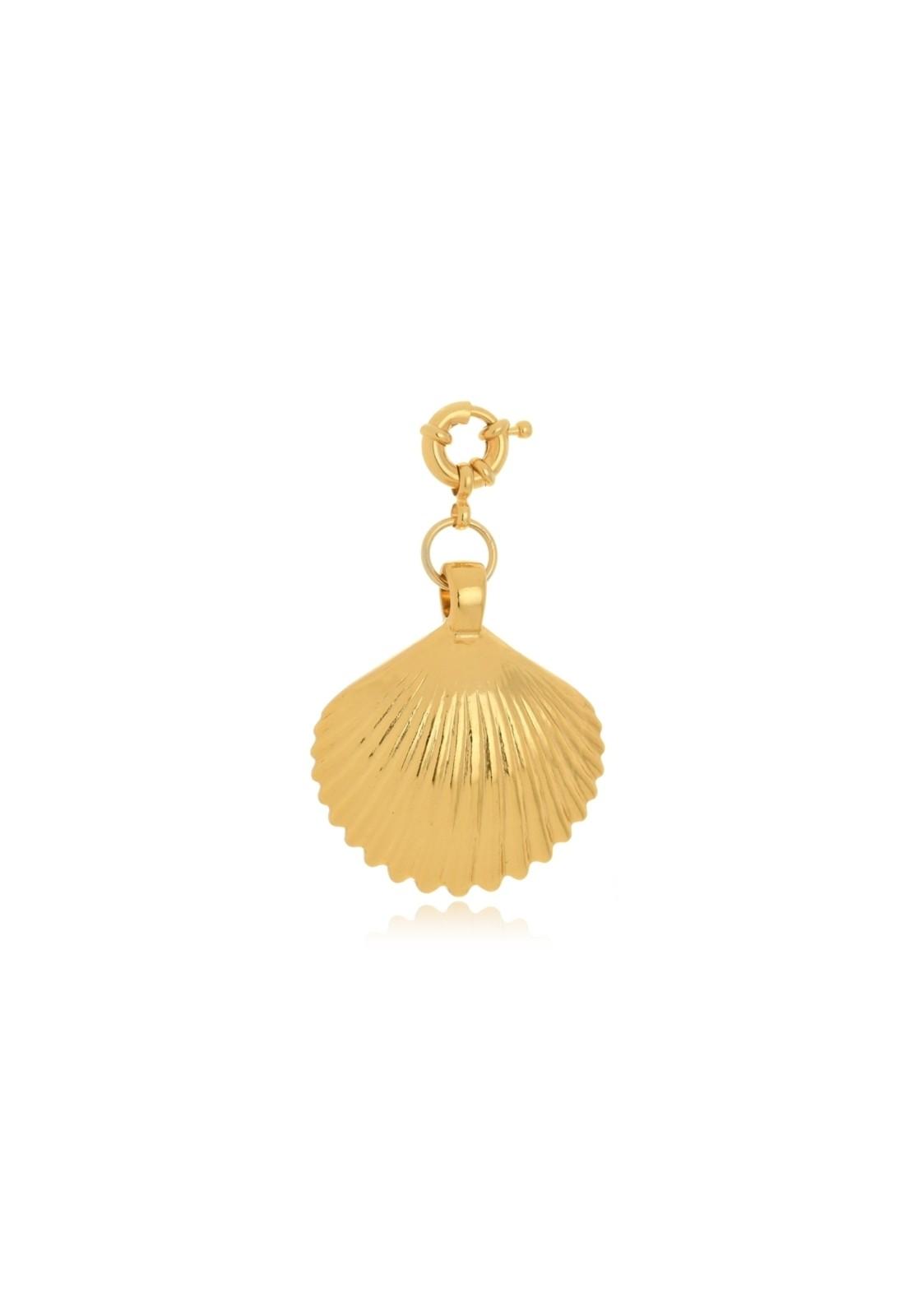 Pingente Le Diamond Concha Grande Dourada