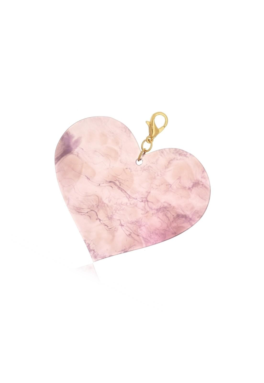 Pingente Le Diamond Coração Acrílico Lilás