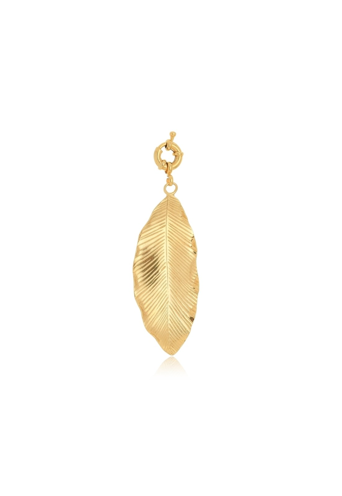 Pingente Le Diamond Folha Dourada