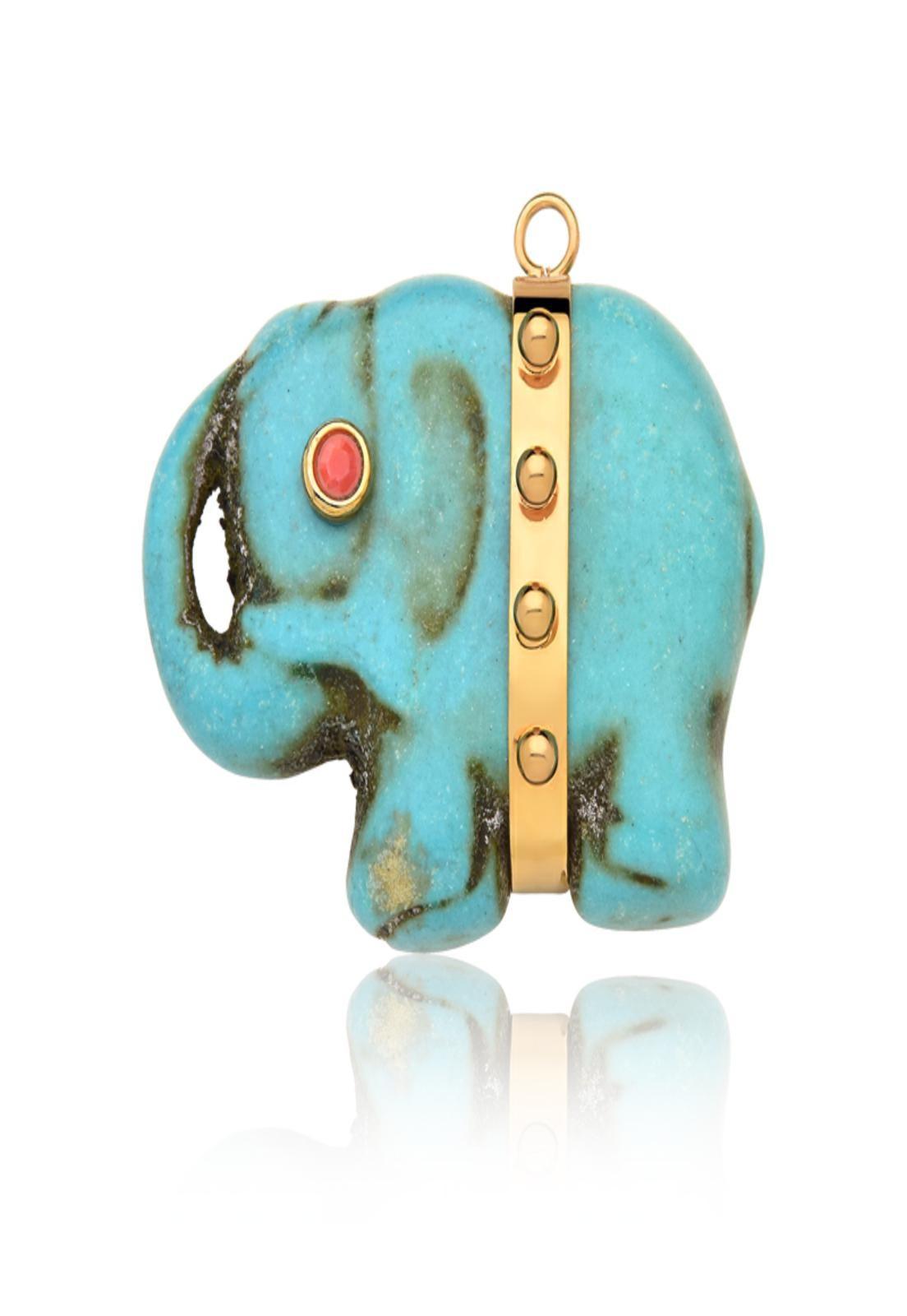 Pingente Le Diamond Pingente Elefante em Pedra
