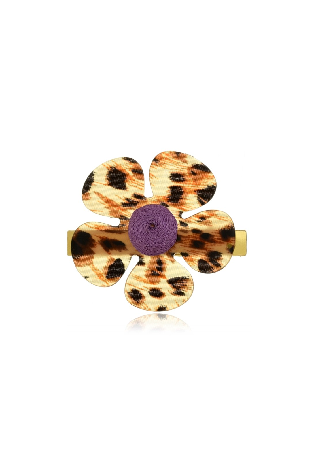 Presilha Le Diamond Flor Animal Print