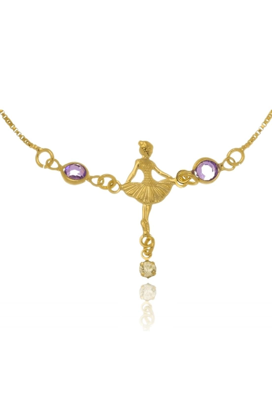 Pulseira Le Diamond Bailarina Três Pedras