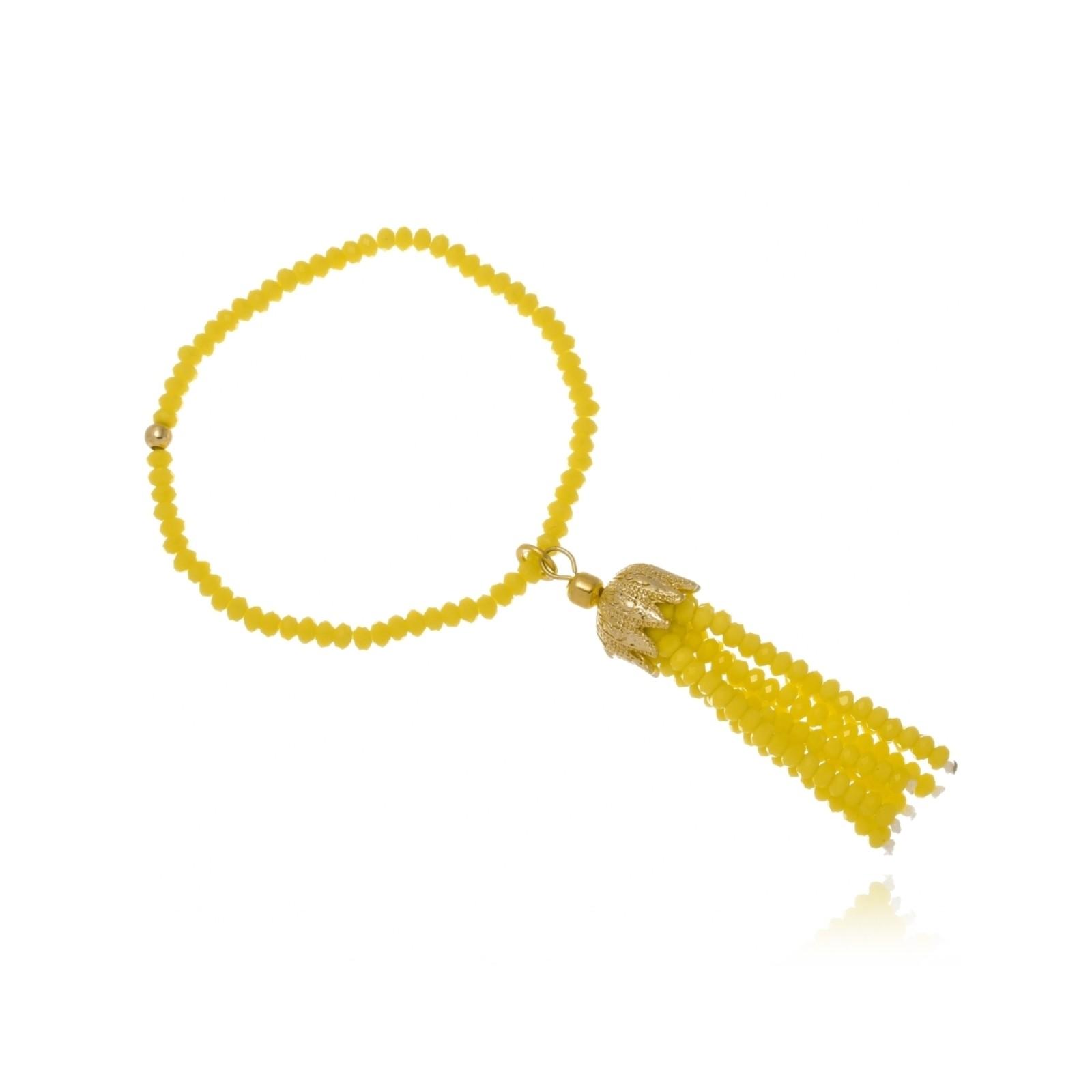 Pulseira Le Diamond Cristais Amarelo