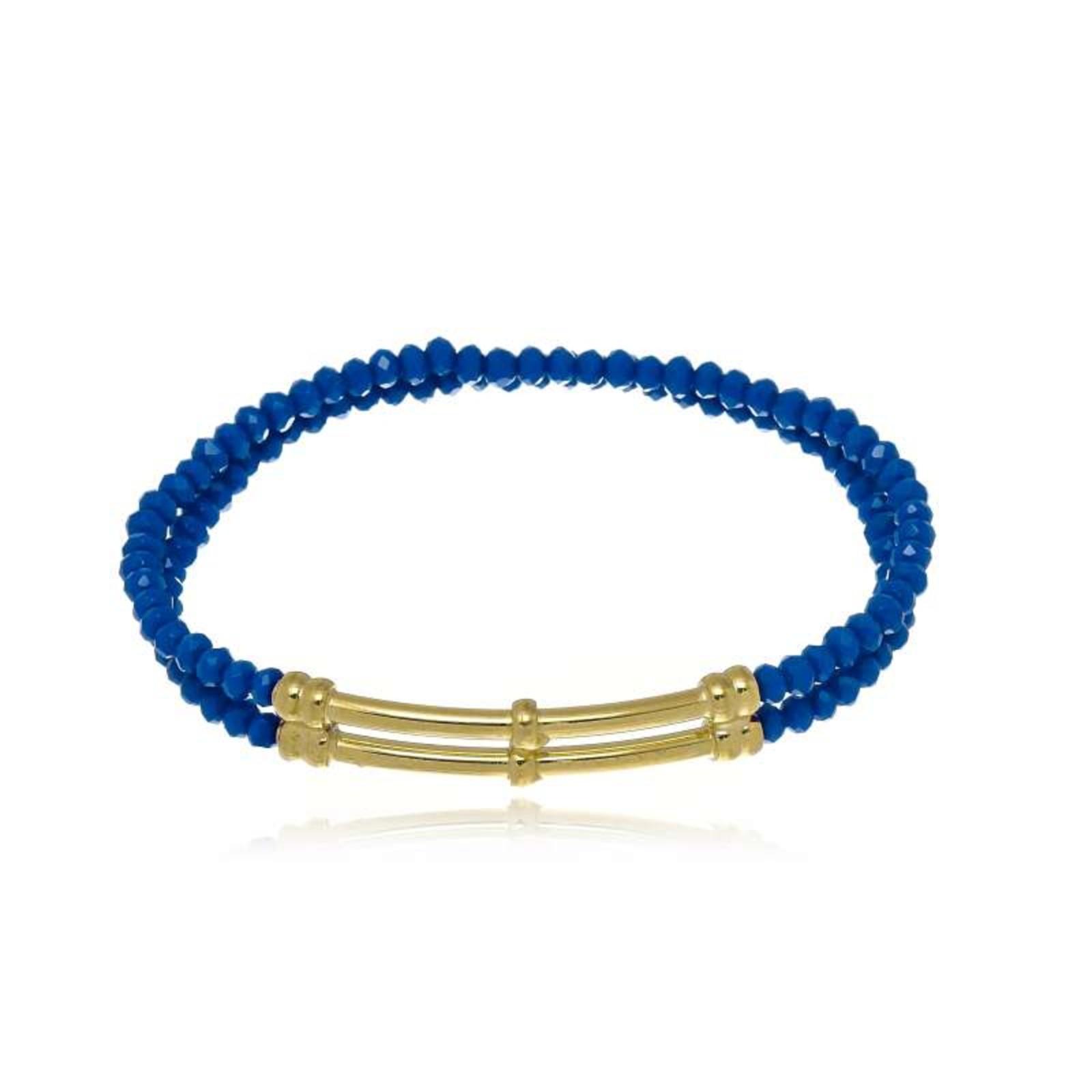 Pulseira Le Diamond Cristais Azul