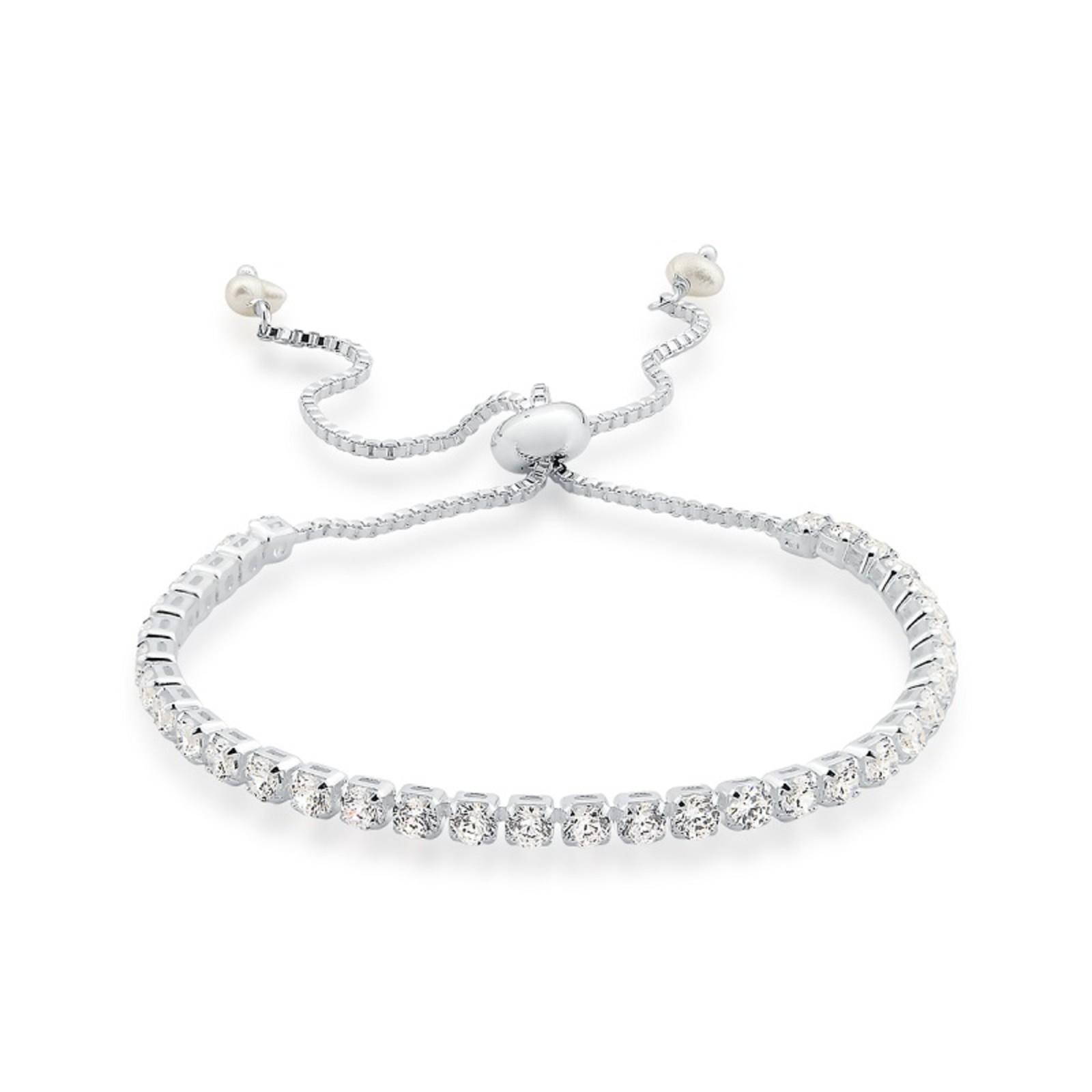 Pulseira Le Diamond de Zirconias Ródio Branco