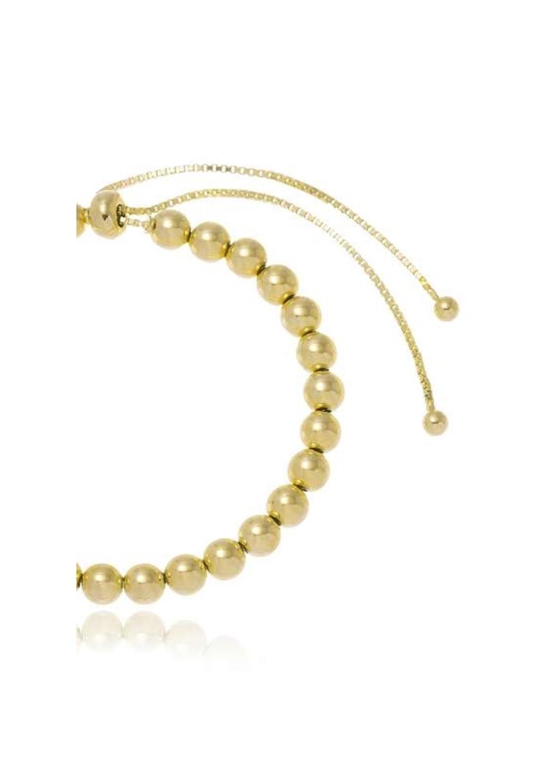 Pulseira Le Diamond Gravatinha com Bolinhas Dourada