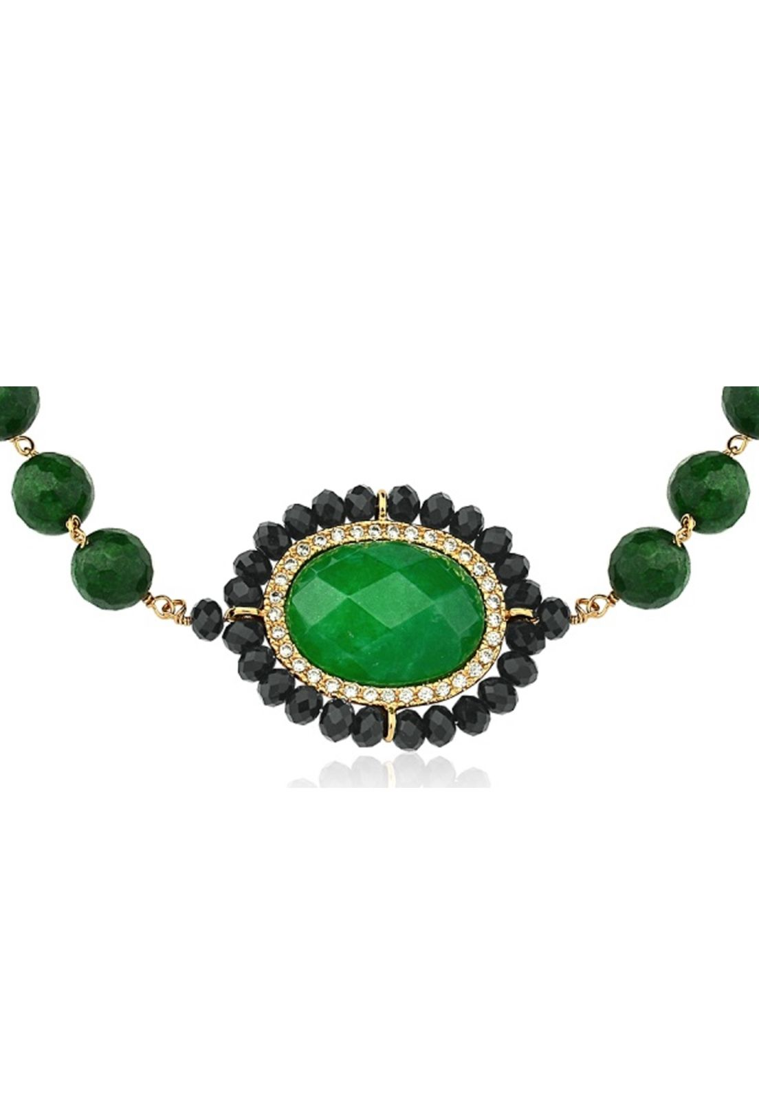 Pulseira Le Diamond Pedra Natural Jaspe Verde