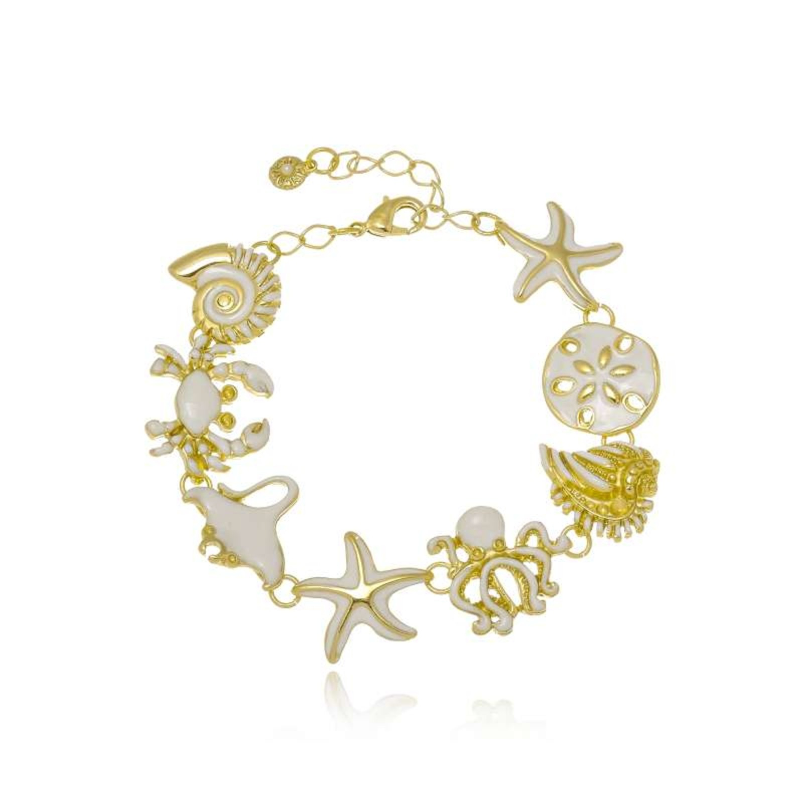 Pulseira Le Diamond Sereia Elementos do Mar Dourado