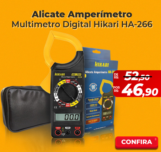 Alicate Amperímetro Multimetro Digital Hikari HA-266