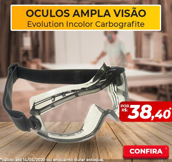macacaOculos Ampla Visão Evolution Incolor Carbografite CA 18246o de segurança branco steelflex tam. m ca 39707