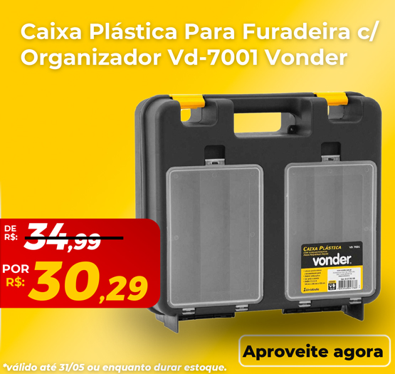 caixa plastica vd 7001 vonder