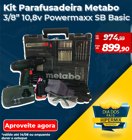 Dia dos Pais Kit Metabo Powermaxx