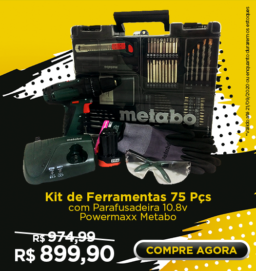 semana do consumidor kit de ferramentas 75 pcs metabo