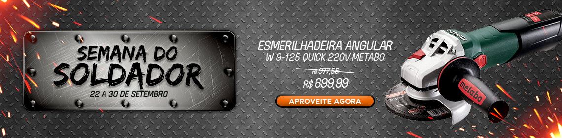 Esmerilhadeira Angular W 9-125 Quick 220v Metabo 600374010
