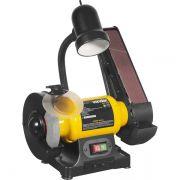 Moto Esmeril Bancada C/ Lixadeira Cinta 127v Mlv-370 Vonder 6001370127