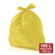 Saco de Lixo 105 Litros Amarelo Reforçado 100un Plast Veneza