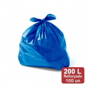 Saco de Lixo 200 Litros Azul Reforçado 100un Plast Veneza
