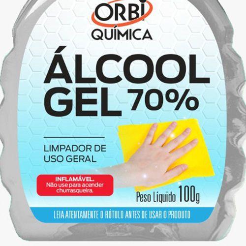Álcool Gel 70º Antisséptico e Higienizador de Mãos 100g Orbi