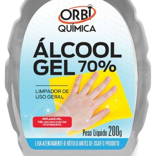 Álcool Gel 70º Antisséptico e Higienizador de Mãos 200g Orbi